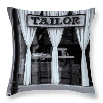 Bellows Falls Tailor Throw Pillow by Tom Singleton