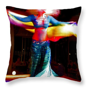 Belly Dance Throw Pillow by Andy Za