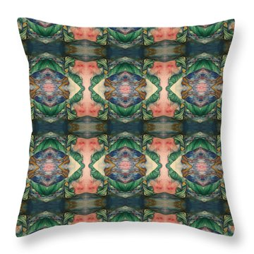 Belly Dance Mirror Image Throw Pillow
