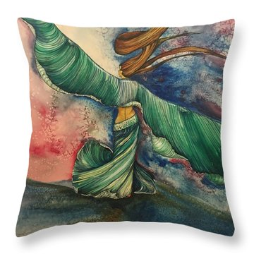 Belly Dancer With Wings  Throw Pillow