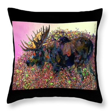 Throw Pillow featuring the painting Belly Deep by Bob Coonts