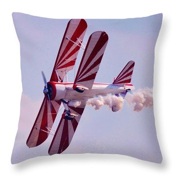 Belly Of A Biplane Throw Pillow