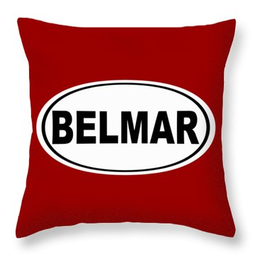 Throw Pillow featuring the photograph Belmar New Jersey Home Pride by Keith Webber Jr