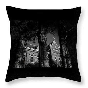 Throw Pillow featuring the photograph Belmont Abbey by Jessica Brawley