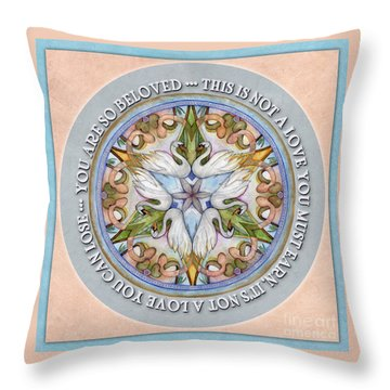 Beloved Mandala Prayer Throw Pillow