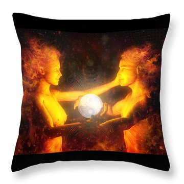 Beloved Throw Pillow by Robby Donaghey