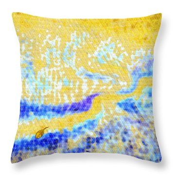 Beloved Shore Throw Pillow by Mathilde Vhargon