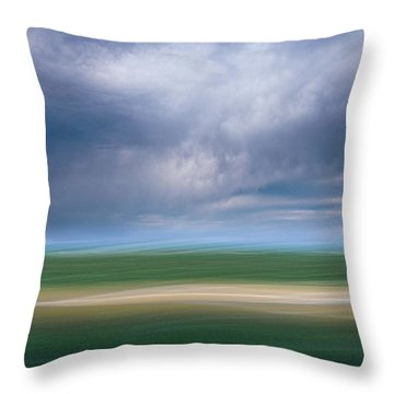 Below The Clouds Throw Pillow