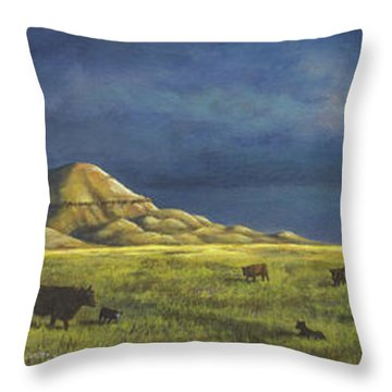 Belt Butte Spring Throw Pillow