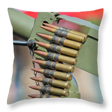 Throw Pillow featuring the photograph Belt Of Rounds by Chris Dutton