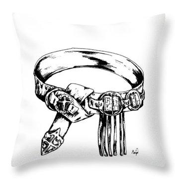 Belt Of Truth Throw Pillow by Maryn Crawford