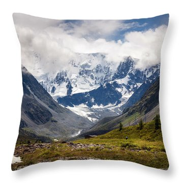 Belukha Mountain. Altay. Russia Throw Pillow
