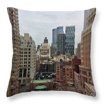 Belvedere Hotel New York City  Room With A View Throw Pillow
