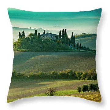 Belvedere - Tuscany II Throw Pillow by Brian Jannsen