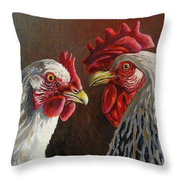 Ben And Sylvia Throw Pillow