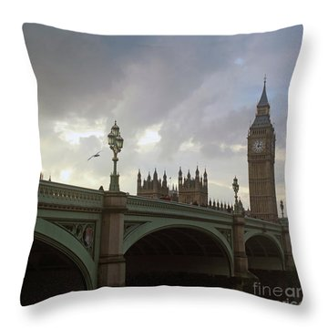 Ben And The Bridge Throw Pillow