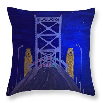 Ben Franklin Bridge Throw Pillow