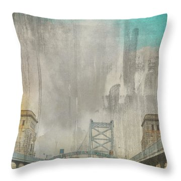 Ben Franklin Bridge Philadelphia Pa Throw Pillow