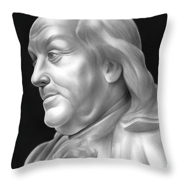 Ben Franklin Throw Pillow