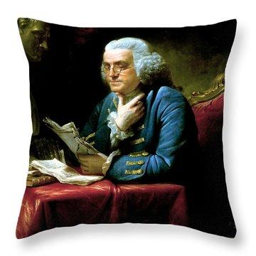 Ben Franklin Throw Pillow