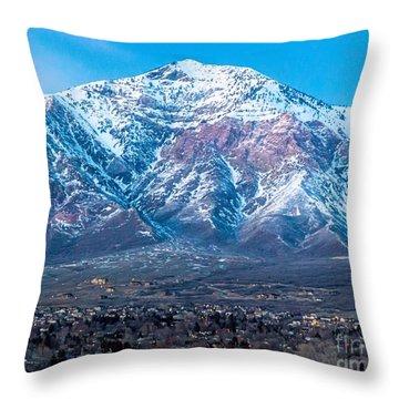Ben Lomond At Dusk Throw Pillow