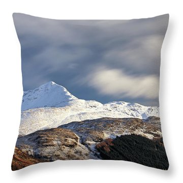 Throw Pillow featuring the photograph Ben Lomond by Grant Glendinning