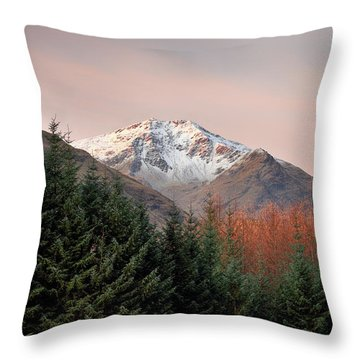 Throw Pillow featuring the photograph Ben Lui Sunrise by Grant Glendinning