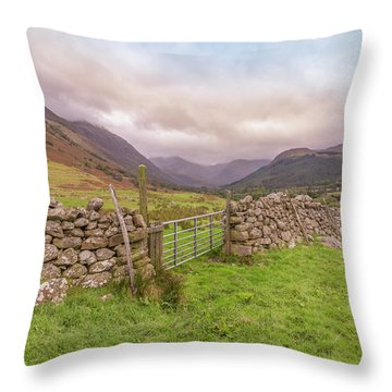 Ben Nevis Mountain Range Throw Pillow by Roy McPeak