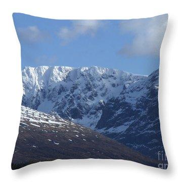 Ben Nevis North Face Throw Pillow