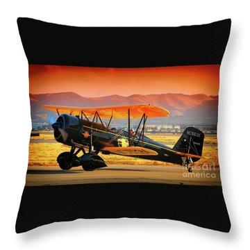 Ben Scott's Stearman Speedmail 4e Version 2 Throw Pillow