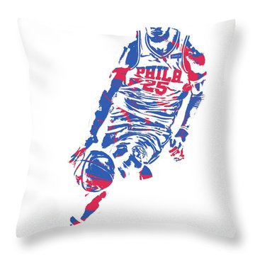 Ben Simmons Philadelphia Sixers Pixel Art 1 Throw Pillow
