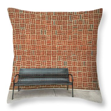 Throw Pillow featuring the photograph Bench 2017 02 by Jim Dollar