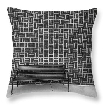 Bench 2017 Bw Throw Pillow