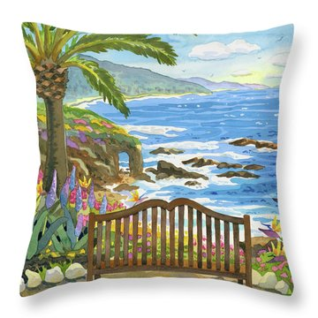 Bench At The Montage Throw Pillow