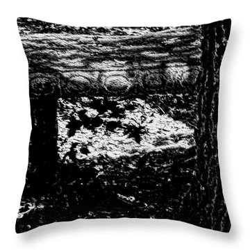 Bench Loves Tree Throw Pillow