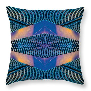 Bench N78v3 Throw Pillow by Raymond Kunst