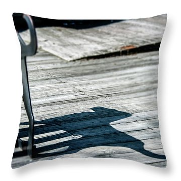 Bench Shadow Throw Pillow