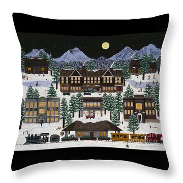 Bend @ Night Throw Pillow by Jennifer Lake