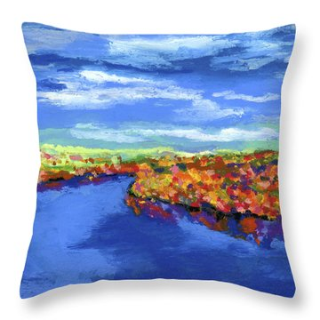 Bend In The River Throw Pillow by Stephen Anderson