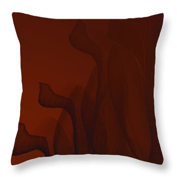 Bended Wires Throw Pillow by Constance Krejci