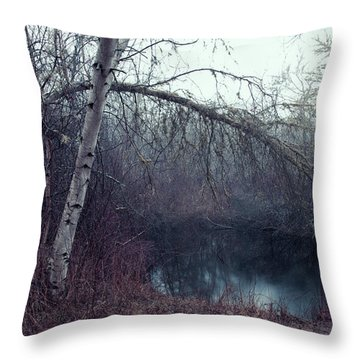 Throw Pillow featuring the photograph Bending Birch by Andrew Pacheco