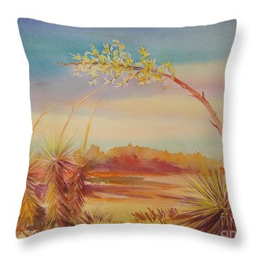 Bending Yucca Throw Pillow by Summer Celeste