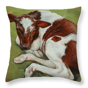 Bendy New Calf Throw Pillow