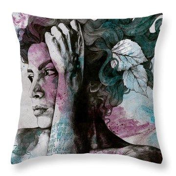 Inks Throw Pillows