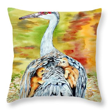 Beneath My Wings Throw Pillow by Maria Barry