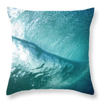 Beneath The Curl Throw Pillow