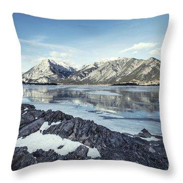 Beneath The Frozen Sky Throw Pillow