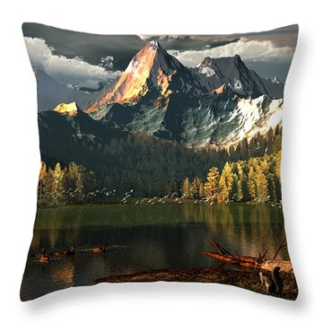 Beneath The Gilded Crowns Throw Pillow