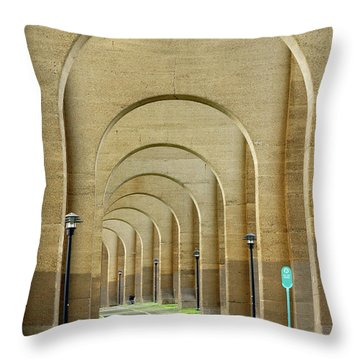 Beneath The Hellgate Throw Pillow