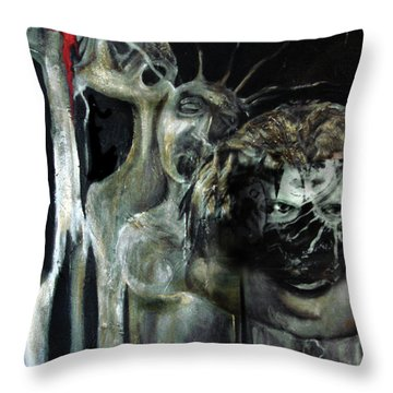 Beneath The Mask Throw Pillow